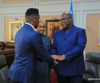 Samuel Eto'o et Ahmad Ahmad reçus par le président Tshisekedi