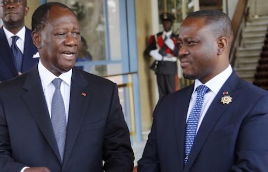 Alassane Ouattara et Guillaume Soro