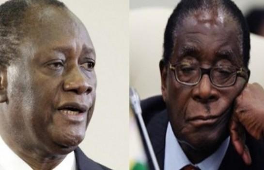 Ouattara appelle Mugabe à démissionner.