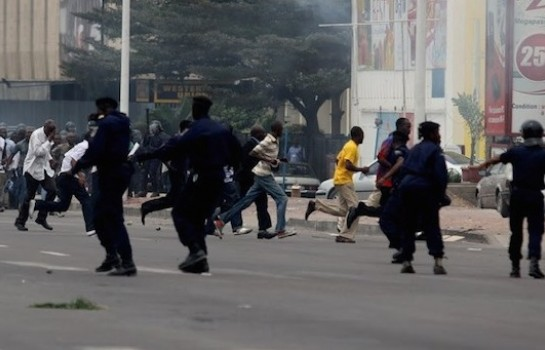Des affrontements à Kinshasa