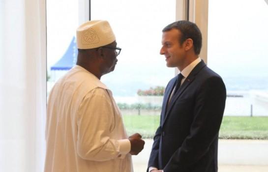 IBK et Macron lors du conférence du G5 Sahel