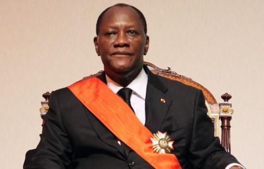 Alassane Ouattara, le président de la République de Côte d'Ivoire