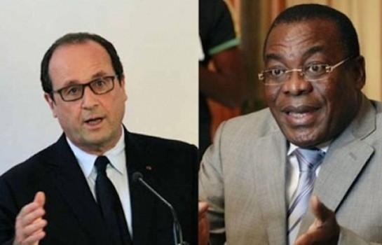 François Hollande et Pascal Affi N'guessan (photo d'illustration)