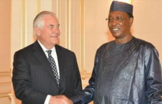 Rex Tillerson et Idriss Deby au Tchad