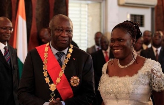 Laurent Gbagbo et l'ancienne première dame Simone Gbagbo