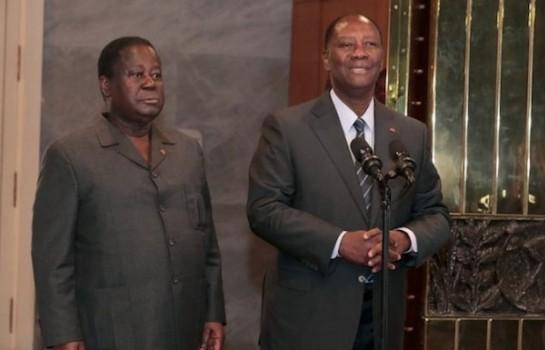 Désaccord entre Ouattara et Bédié pour l'alternance 2020