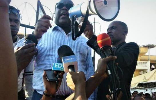 Félix Tshisékédi, président de l'UDPS, en meeting ce mardi