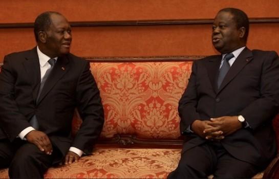 Alassane Ouattara et Henri Konan Bédié en pourparlers