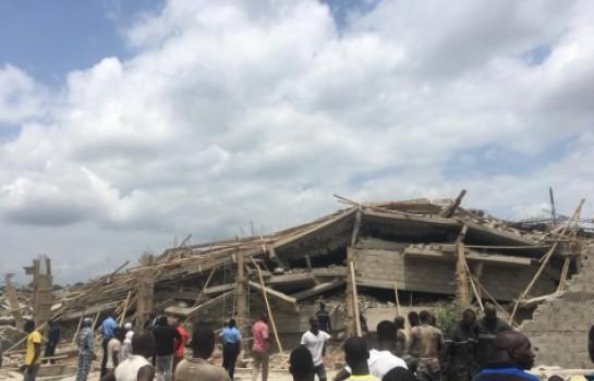 L'immeuble effondré à Yamoussoukro fait un mort et des blessés