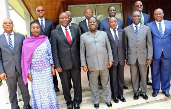 Bédié et les ministres PDCI