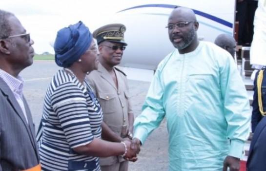 Arrvée de Georges Weah à l'aéroport de Yamoussoukro