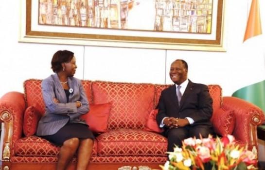 OIF, Louise Mushikiwabo en campagne auprès de Ouattara