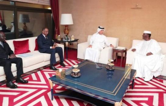 Alassane Ouattara en visite au Qatar