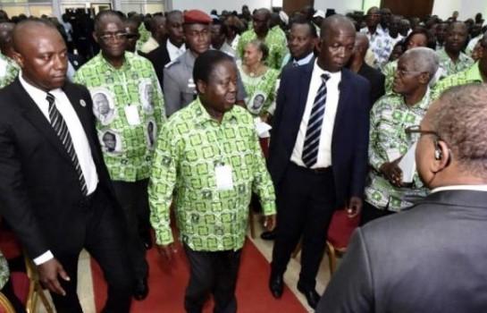 Henri Konan Bédié au congrès extraordinaire du PDCI