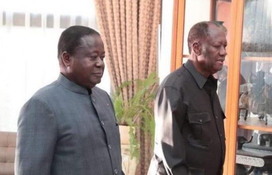 Jean Claude N'Dri Konan bédié et alassane ouattara