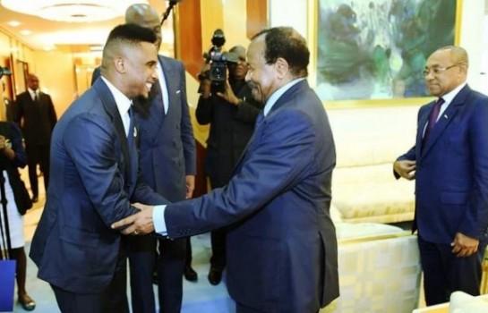 Samuel Eto'o Fils apporte son soutien à Paul Biya