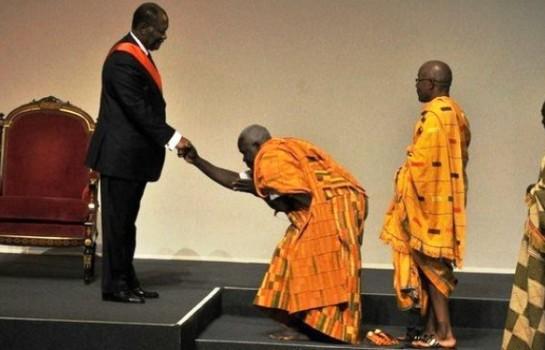 Des chefs baoulé chez le Président Alassane Ouattara