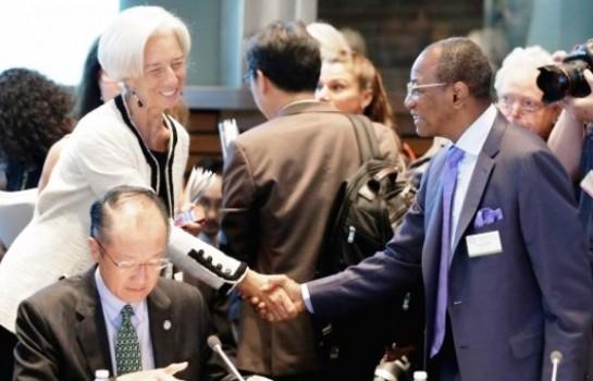 Le Président Alpha Condé et Christine Lagarde, DG du FMI