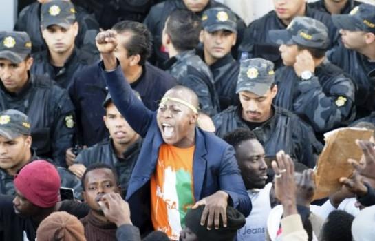 Manifestation des Ivoiriens et autres subsahariens pour le meurtre de Falikou Koulibaly