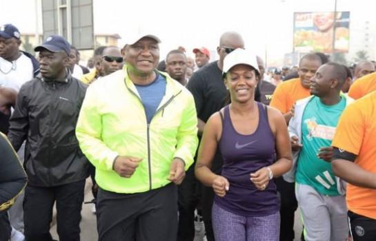 Le ministre Hamed Bakayoko en plein Jogging