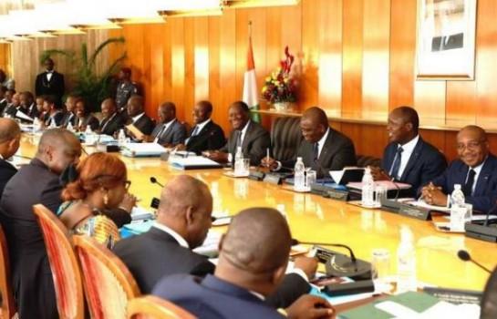Conseil des ministres du gouvernement ivoirien