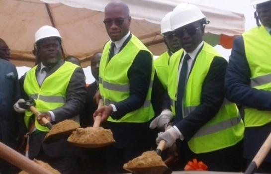 Didier Drogba au lancement des travaux du Stade de San Pedro