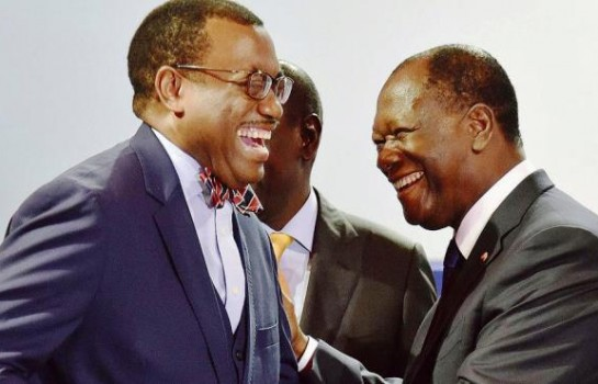 Alassane Ouattara ett Akinwumi Adesina