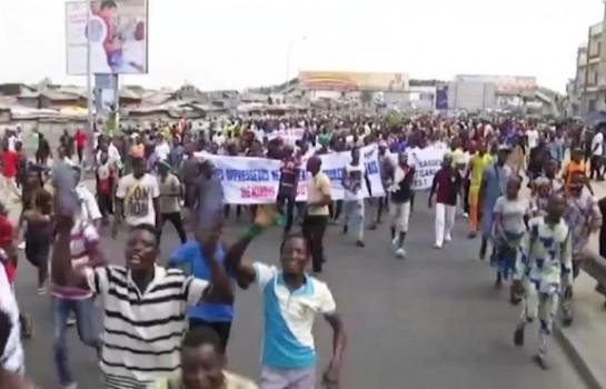Manifestation de l'opposition contre le Ministre de l'Intérieur