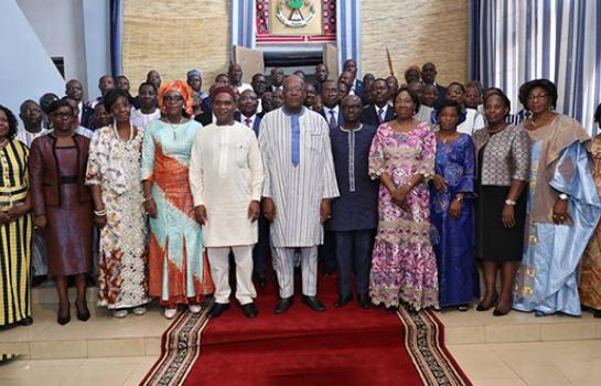 Les ambassadeurs et consuls généraux du Burkina