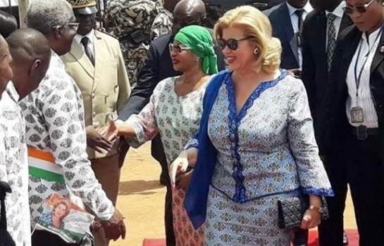 Mesdames Dominique Ouattara et Henriette Bédié à Bouaké