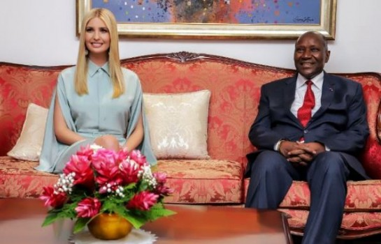 Ivanka Trump reçue à Abidjan par Kablan Duncan