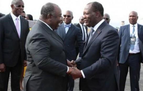 Alassane Ouattara au chevet d'Ali Bongo à Libreville