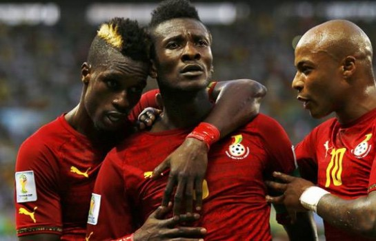 Asamoah Gyan sans le brassard