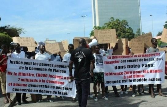 Des manifestants anti Jacques Ehouo arrêtés au Plateau