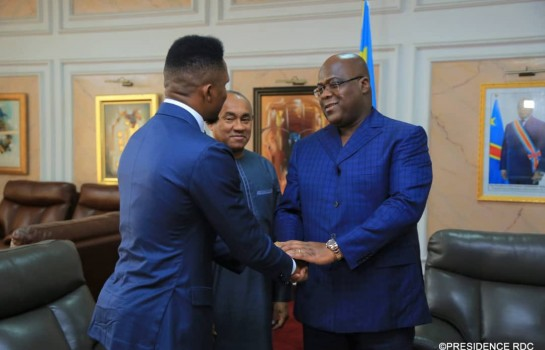Samuel Eto'o en VIP chez Tshisekedi