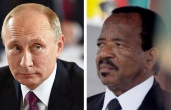 le soutien de Vladimir Poutine à Biya
