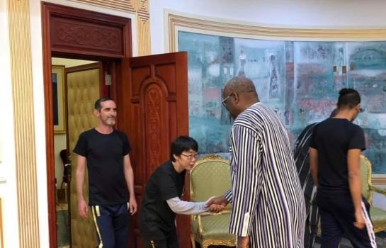 Roch Kaboré a reçu les deux ex-otages français