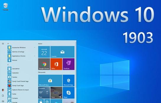 Windows 10 est disponible depuis le 21 mai 2019, elle porte le nom de Windows 10 1903 ou