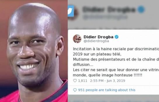 Didier Drogba dénonce le racisme de la chroniqueuse Christine Angot.