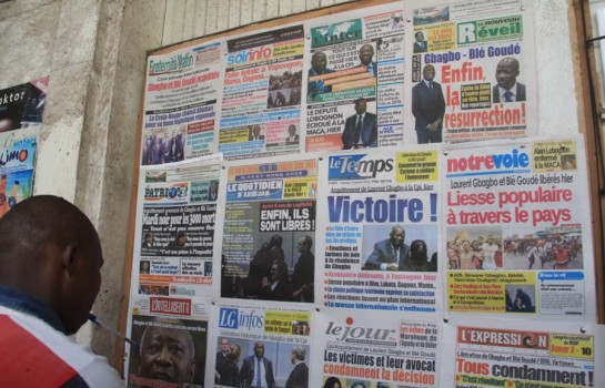Titrologie: Revue de presse de Côte d' Ivoire du 6 juin 2019
