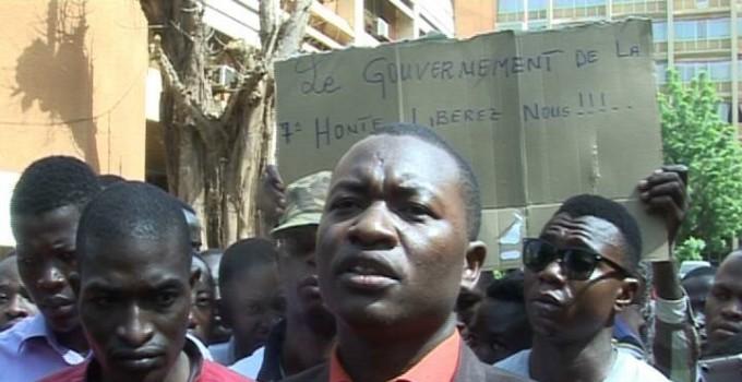 Mouvement d'humeur des étudiants pour exiger le paiement de  leurs bourses