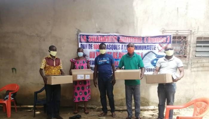 La Solidarité Amicale France fait un don de 1000 masques à Adiapo-To