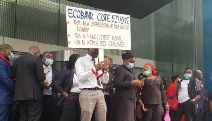 Grève des employés d' ECOBANK, ce qui a tout provoqué