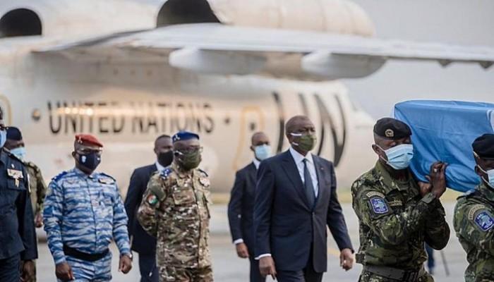 Mali: Hamed Bakayoko rend hommage aux 4 casques bleus ivoiriens tués