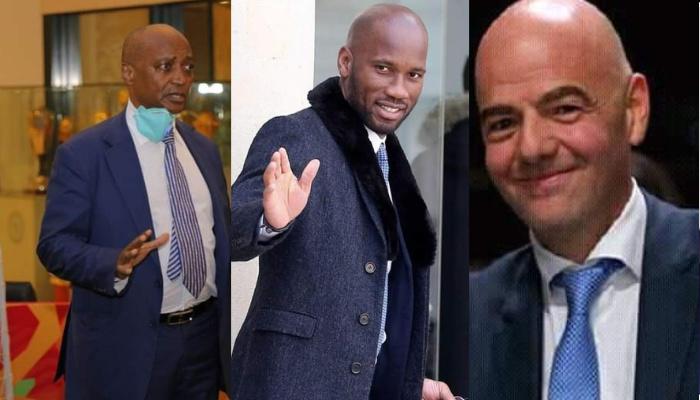 FIF: Infantino et Motsepe débarquent à Abidjan pour installer Drogba