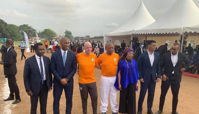FIF: Drogba réclamé en présence de Infantino (FIFA) et Motsepe (CAF)