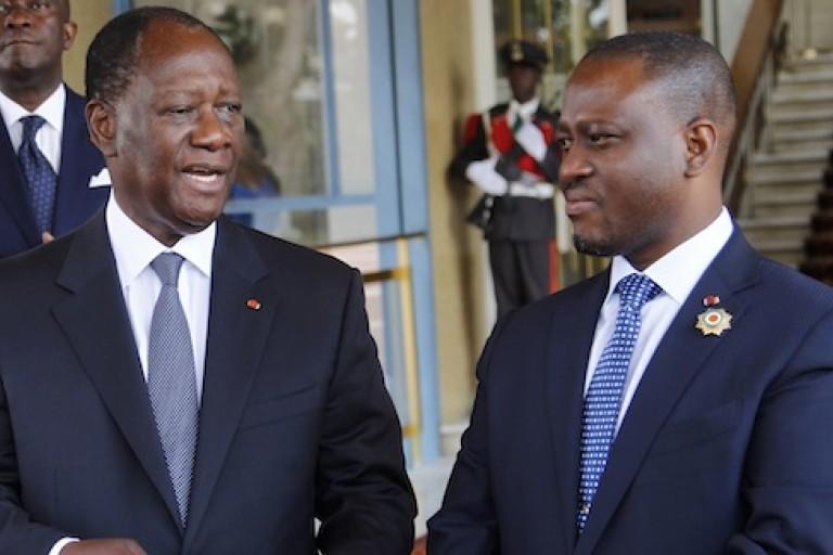 Enfin la rencontre Alassane Ouattara - Soro Guillaume.