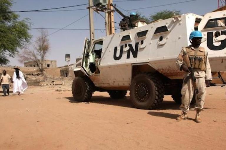 Une patrouille de la Minusma à Menaka