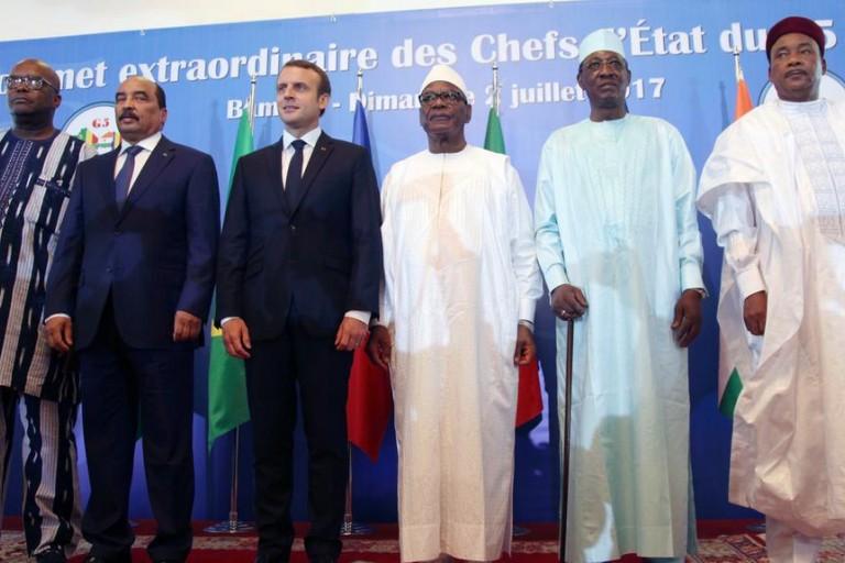 Les présidents du G5 Sahel à l'issue du sommet de Bamako