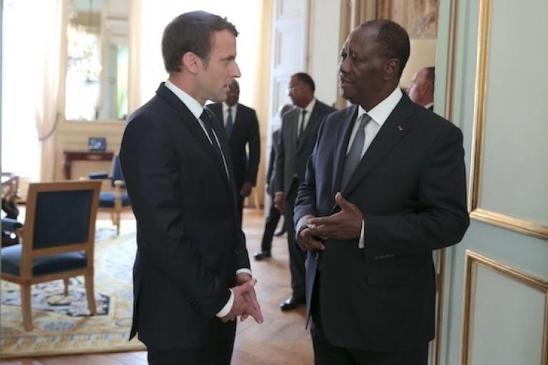 Ouattara et Macron opposés à propos de l'immigration